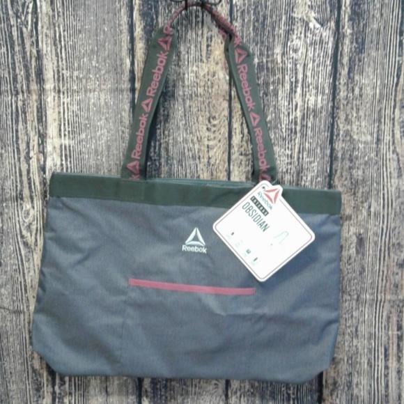 be6c47f7f67d NWT REEBOK Obsidian Tote Bag NWT